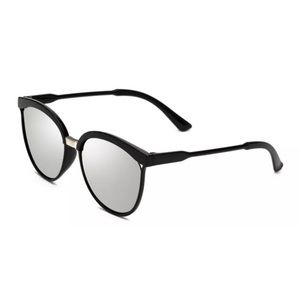Unisex Silver Mirrored Lenses Sunglasses